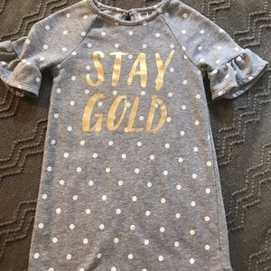 Old Navy Stay Gold Sweatshirt Dress 5T
